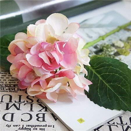 UTREND_ Artificial Flowers Hydrangea Silk Mini Sweet Pea Flower dekor Plant Bouquet Artificial Flowers Garden Decor for Home Crafting - ()