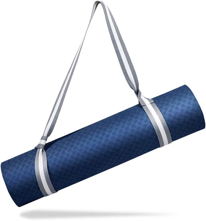 Adjustable Durable Cotton Yoga Mat Carrier EasyLife185 Yoga Mat Strap Durable and Comfy Delicate Texture,Doubles As Yoga Strap