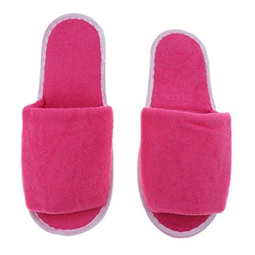 Pantoufle Maison Sac Homyl Unisexe Pliant Pantoufle d'Hiver Rangement pour Chaussons de femme Avec rouge rose pwdqxRzdZ