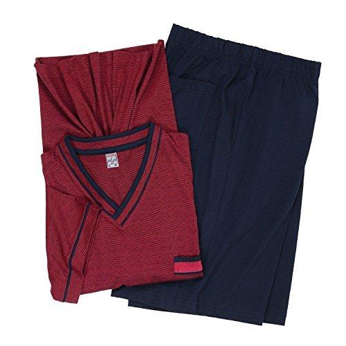 Short Pijama en tallas especiales by ADAMO-moda, burdeos hasta 10XL - algodón,