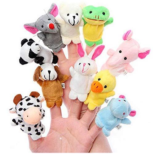 Demarkt 10x Fingerpuppe Handschuh Puppe Handspielpuppe Handpuppe