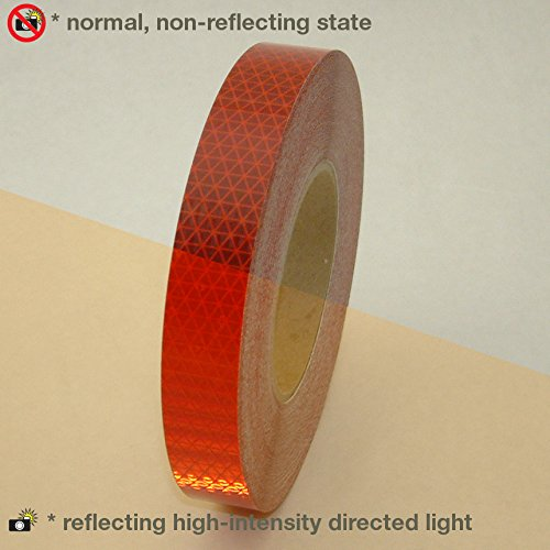 Oralite ( Reflexite ) v92-db-colors microprismatic retroreflective Conspicuityテープ レッド 1 in. x 50 yds. (25mm wide) 1 in. x 50 yds. (25mm wide)レッド B01N5MSOGX