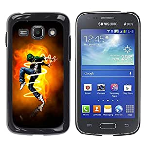 MOBMART Carcasa Funda Case Cover Armor Shell PARA Samsung Galaxy Ace 3 - The Electric Male Dancer