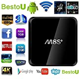 [2017 NEW] BestoU M8S Plus Android Tv Box Support 4k Function with Amlogic S905 Quad Core 1GB/8GB All APP fully Loaded