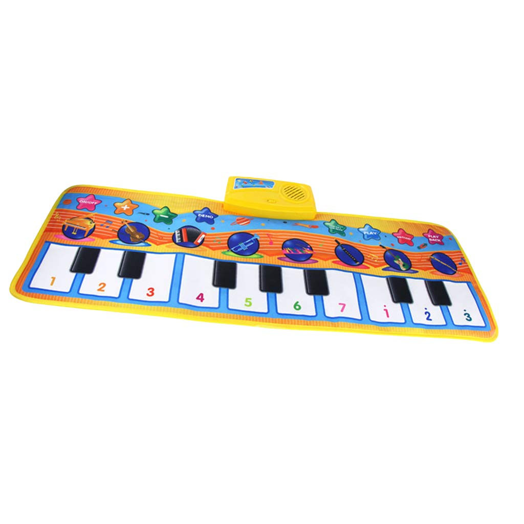 DYNWAVE Folding Musical Piano Mat 18 Keys Playmat Dancing Blanket Built-in Speaker Developmental Toy Gift for Kids Toddlers Boys & Girls (31.5x11.4 inch) by DYNWAVE (Image #4)
