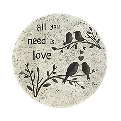 Stepping Stone, All You Need is Love Outdoor Garden Step Stepping Stone Concrete