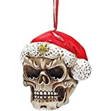 Design Toscano Skelly Claus II Holiday Skeleton Ornament: Set of Three