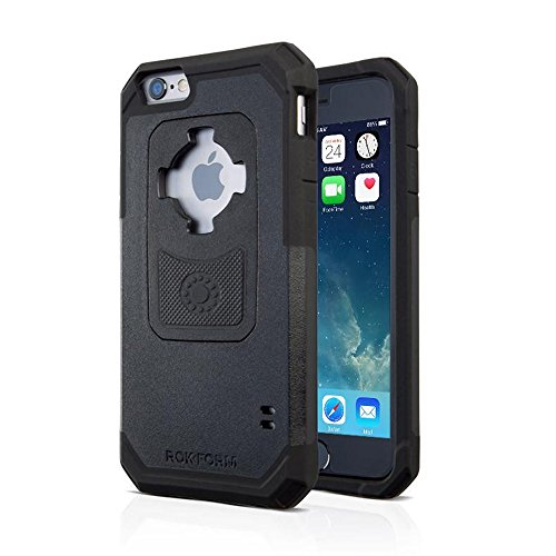 (Rokform iPhone 6/6s Rugged Series Military Grade Magnetic Protective Phone Case with twist lock & universal magnetic car mount (Black) 302201)