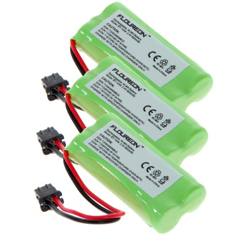Lenmar Nickel Cordless Battery - Floureon 3x 2.4V 900mAh Ni-MH Cordless Phone Batteries for Lenmar CBBT1008, CB-BT1008