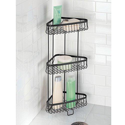 Bath shower sets interdesign free standing three - Free standing corner bathroom shelves ...