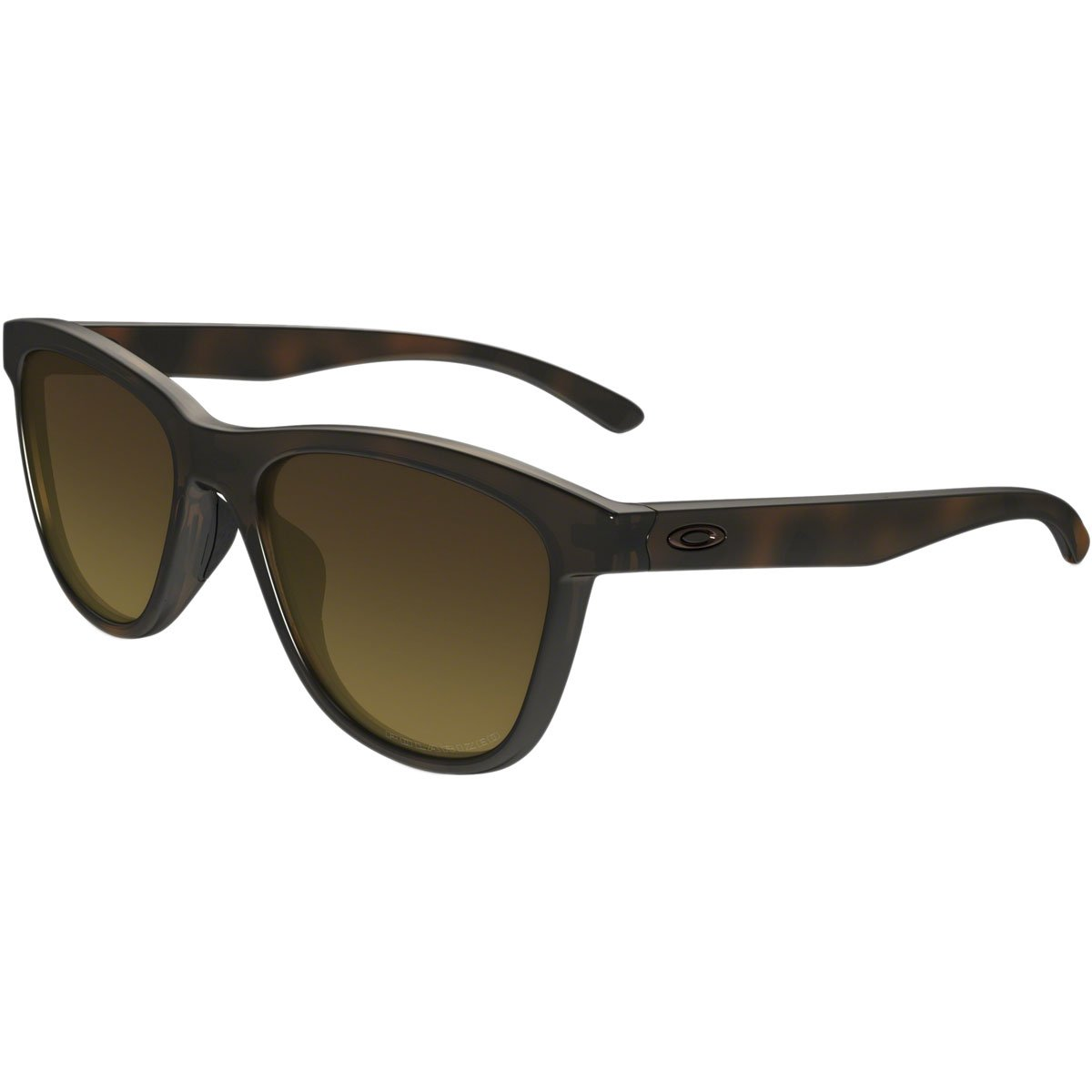 Oakley Men's Moonlighter Polarized Round Sunglasses, Tortoise w/Brown Gradient Polarized, 53 mm