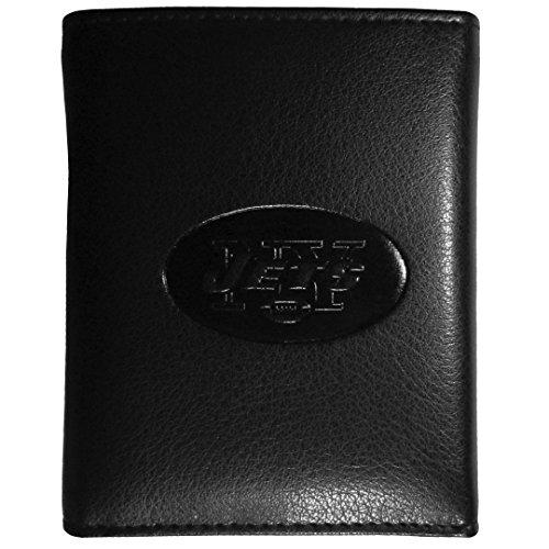 NFL New York Jets Embossed Tri-Fold Wallet, Black ()