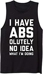 WINGZOO Workout Tank Top for Men-Mens Novelty Funny Saying Fitness Gym Racerback Sleeveless Shirts
