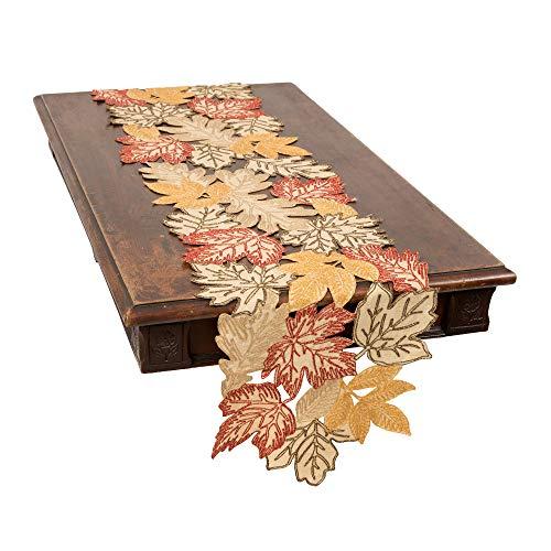 Xia Home Fashions Autumn Leaves Table Runner, 15''x90'', -
