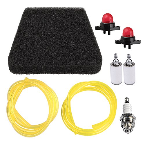 (Panari 530037793 Air Filter Tune Up Kit Primer Bulb Fuel Line Fuel Filter for Poulan Craftsman Chainsaw 530069216 530069247 530071835)