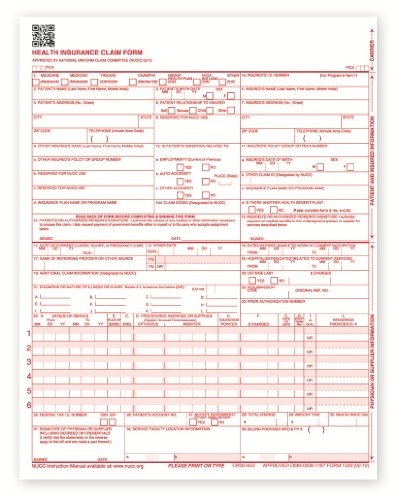 New CMS 1500 Health Insurance Claim Forms, HCFA Approved Version (02/12) - REAM OF 500 FORMS by HCF