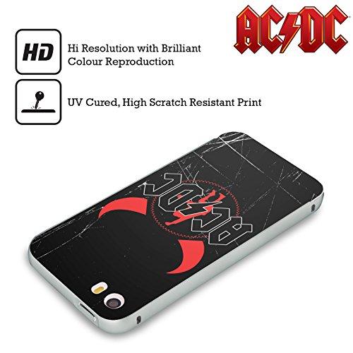 Officiel AC/DC ACDC Klaxons De Diable Iconique Argent Étui Coque Aluminium Bumper Slider pour Apple iPhone 5 / 5s / SE