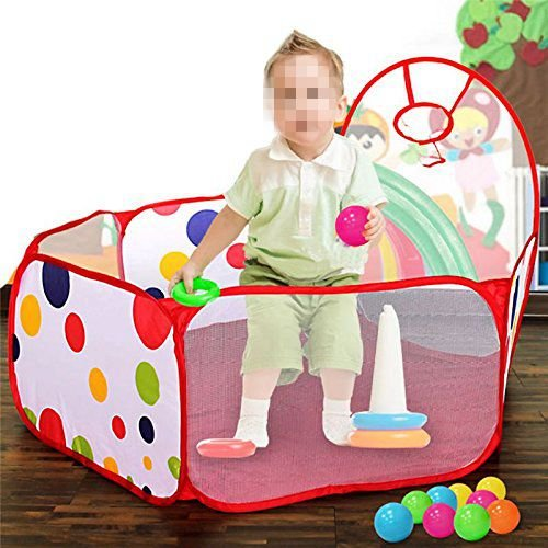 Techinal Portable Kids Room Childrens Pit Pool Ocean Ball Playhut Outdoor Indoor Toy Tent - Huts Kids