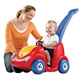 Step2 Push Around Buggy Toddler Pushing Car - Durable and Safe Outdoor Wagon Cart for Kids - Red