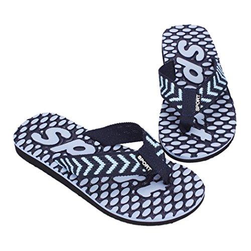 Deslizador De La Sandalia De Los Hombres De Voberry® Deslizamiento Cómodo Del Zapato De La Playa De La Ducha En El Flip-flop Azul