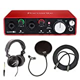 Focusrite Scarlett 2i2 USB Audio Interface (2nd Gen) + Free Knox Pop Filter, Tascam Headphones and CAD 25' XLR