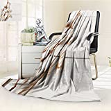 Luminous Microfiber Throw Blanket autumn composition dried white fluffy cotton flower top view on white wood with Glow In The Dark Constellation Blanket, Soft And Durable Polyester(60''x 50'')