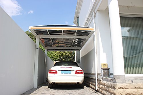 10' x 18' Metal Carport Canopy Aluminum Carport Covers Durable with Gutter Metal Vehicle Shelter RV Carport Metal Garage for Car, Yacht and Copter, Also Is Luxury Patio Cover by ClearYup (Image #2)