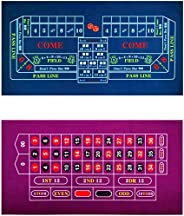 """BALIKEN Tabletop Professional Casino Felt for 2-Sided 36""""x72"""" Roulette and Craps Casino Tabletop Fel"""