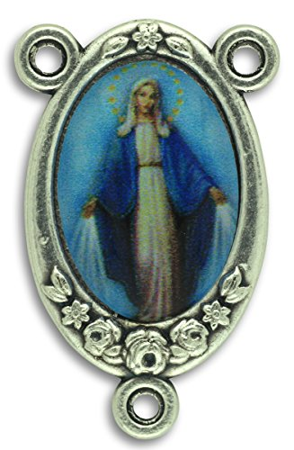 (LOT of 5 - Rosary Center Our Lady of Grace Center Piece Color Image 1)