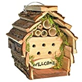 Gardirect Bees & Ladybirds Log Cabin, Wooden Insect Hotel