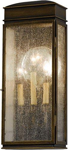 Feiss OL7402ASTB Whitaker Outdoor Patio Lighting Wall Lantern, Bronze, 3-Light (9