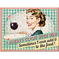Nostalgic Art Cook With Wine Magnet