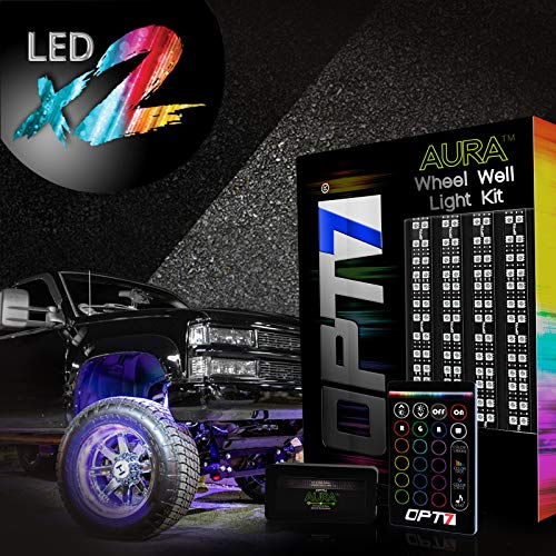 OPT7 3-Into-1 Aura Wheel Well LED Kit | All-Color Strips w/SoundSync (Double Row)