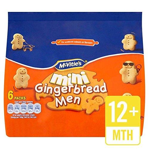 McVitie's Mini Gingerbread Men - 6 x 25g
