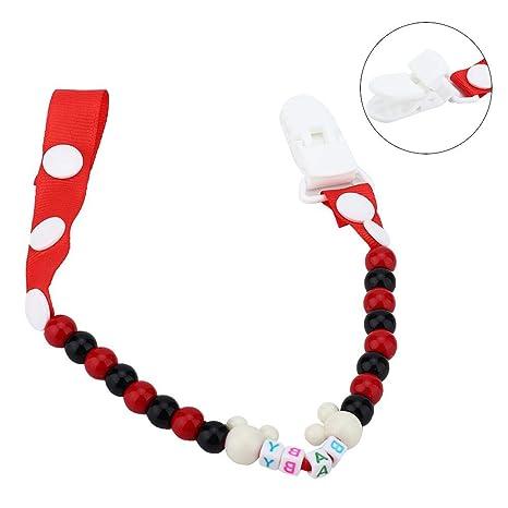 Cadena de chupete de silicona para bebés, cuerda dentada ...