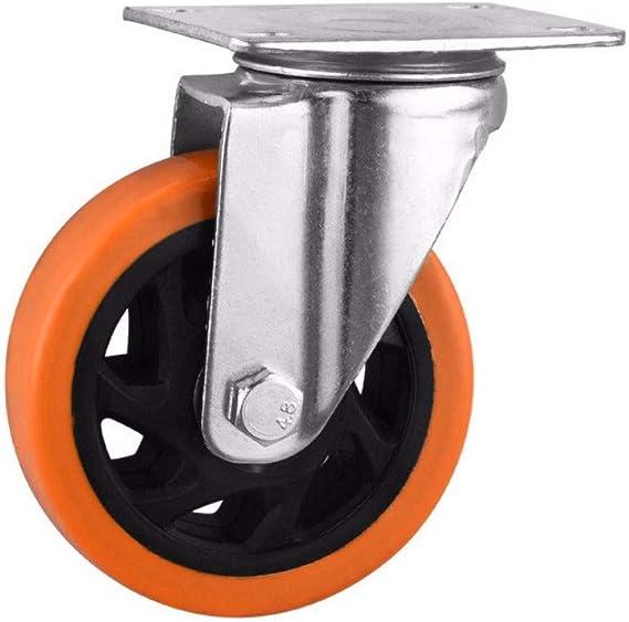 Cuatro ruedas cardán naranjas con rodamientos dobles.: Amazon.es: Bricolaje y herramientas