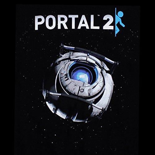 Portal 2 Wheatley T-Shirt lizenziert Gaming Shirt Baumwolle schwarz - XL