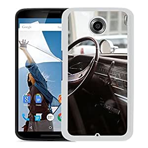 New Beautiful Custom Designed Cover Case For Google Nexus 6 With Retro Car Driver Seat Macro (2) Phone Case