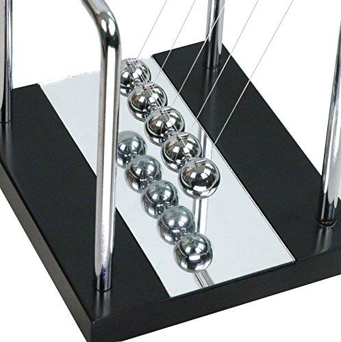 BOJIN Mirror Newton's Cradle Balance Ball Science Kinetic Energy Sculpture - Medium Mirror by BOJIN (Image #3)