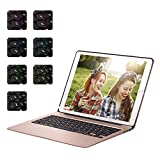 ElementDigital iPad Pro 12.9 inch Bluetooth Keyboard Case iPad Stand Adjustable Viewing Angle 81 Keys Wireless Keypad for iPad Pro 12.9 inch with Dream Color Backlit Auto Sleep Wake (Rose Gold)