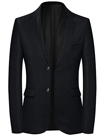 WSPLYSPJY Men Two Button Sport Coat Elbow Patches Blazer
