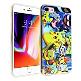 pokemon protective phone case - iPhone 8 Pikachu Case, iPhone 7 Pokemon Case, IMAGITOUCH Anti-Scratch Shock Proof Slim Fit Flexible TPU Case Bumper Cover for iphone 8 / 7 Pokemon Pikachu Collection TPU