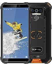Oukitel WP5 Unlocked Rugged Smartphone - Face ID/Fingerprint IP68 Waterproof Android 10 Unlocked Cell Phones 4G LTE Dual SIM, 5.5inches 4GB 32GB Unlock(Orange)