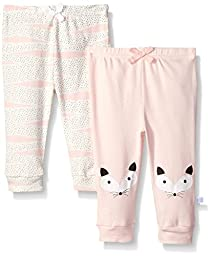 Rosie Pope Baby 2 Pack Pants, Pink, 3-6 Months