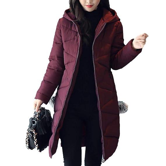 Hanmax Avec Doudoune Manteau Coton De Femme Mi Capuche Longue OqOHrZw