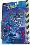 Marvel Comics Year 1997 X-Men Robot Fighters 4-1 / 2 Inch Tall Action Figure - Gambit Plus Robot Drone with Projectile