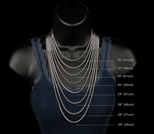 NYC Sterling Men's 9MM Solid Sterling Silver .925 Curb Link Chain Necklace, Made in Italy. (26 Inch) by NYC Sterling (Image #3)
