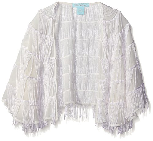 Betsey Johnson Women's Fringe Capelet, Ivory, One Size
