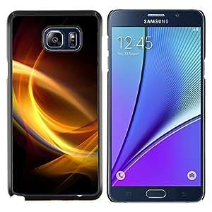 YiPhone /// Prima de resorte delgada de la cubierta del caso de Shell Armor - Remolinos de luz - Samsung Galaxy Note 5 5th N9200