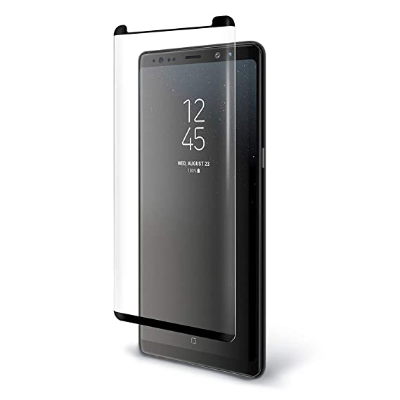 huge discount 8acb8 b742a Galaxy Note 9 Tempered Gorilla Cases Glass FITS with All Cases Note 9  Screen Protector Tempered Samsung Galaxy Note 9 Screen Protector (Clear)  (Black)